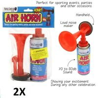 2x Gas Air Horn Hand Held No Pumping Needed Just Press Button Need to be Heard