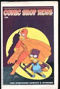 CSN COMIC SHOP NEWS # 294 THE SIMPSONS COMICS & STORIES MATT GROENING GROO AD
