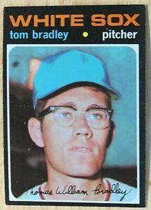 1971 TOPPS BASEBALL SET, #588 Tom Bradley, Chicago White Sox, EX