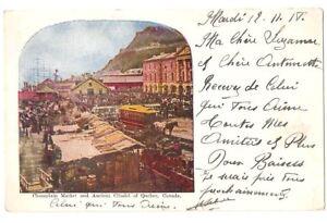 441 -QUEBEC -Champlain Market and Ancient Citadel of Quebec (1911)