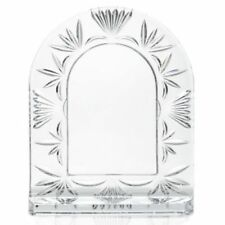 "Waterford Crystal 4"" x 6"" Wedge Cut Arched Picture Frame"