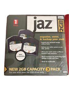 Pack of 3 IOMEGA JAZ High Capacity Disks ~ 2GB per disk ~ NEW SEALED