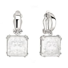 GENUINE LALIQUE CLEAR CRYSTAL Masque De Femme Earrings 10461200 Free Delivery