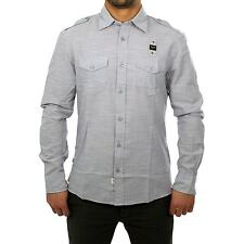 BLAUER USA Men's Longsleeve SHIRT shirt in grey Size L