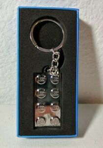 LEGO Limited Edition VIP Exclusive Metal Chrome 2x4 Brick Keychain