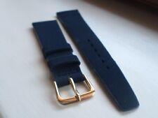 BULOVA/ACCUTRON 20MM SUPERB Copa in pelle scamosciata nero/blu cinturino + G/Pieno Fibbia