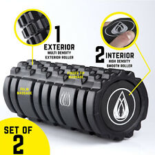 "13"" Foam Roller  2 in 1 Deep Tissue Massage Exercise Yoga Pilates Home Gym Sport"