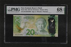 2015-16 New Zealand Reserve Bank 20 Dollars Pick#193a PMG 68 EPQ Superb Gem UNC