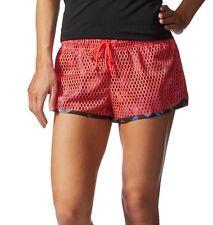 Adidas Adigirl Postup Training Shorts NWT New Large Shock Red L Womens Mesh