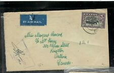 CEYLON (PP3005B)  KGVI 50C ELEPHAND ON RCAF CENSOR COVER TO CANADA