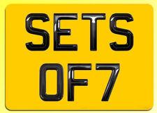 Set of 7 Gel Domed Hi Line BIKE Number Plate Digits (Plates not included)