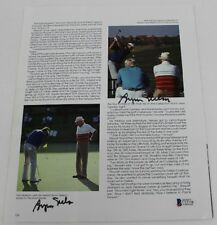Payne Stewart Byron Nelson Signed Book Page Photo 8x11 Autographed Beckett BAS