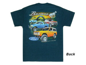 New T-shirt Ford Bronco Hit the Off Road Midnight Blue - Sizes M-3XL