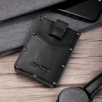 EDC Men's Military Tactical Multi Tool Metal Leather Wallet RFID Blocking - Gift