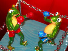 KEREN KOPAL LTD ED #113 OF 250 CREATED FABERGE-INSPIRED BOXING FROGS IN THE RING