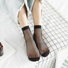 Women Trendy  Mesh Fish Net Short Socks Lace Ruffle Fishnet Ankle High Socks UK