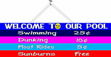 Swimming Pool Price List Funny Welcome Sign with Smiley Face Pm310