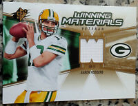 AARON RODGERS 2006 SPX Winning Materials Jersey 2nd Year Packers Superbowl MVP