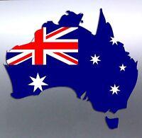 Vinyl cut Car sticker Australia with Australian flag aussie made and designed