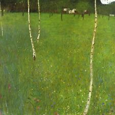 "Gustav Klimt, ""Farm House with Birch Trees"",  giclee open edition print"