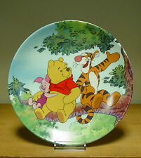 Bradford Exchange Plate - Tree Top Trio - Fun in 100 Acre Woods Collection