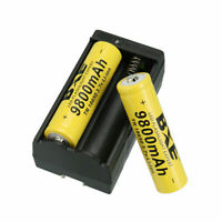Rechargeable Battery 3.7V Li-ion Batteries with US Charger for.Flashlight,.