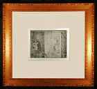 Actresses in Their Dressing Rooms Original Etching by Edgar Degas Framed