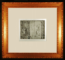 Actresses in Their Dressing Rooms Original Etching by Edgar Degas