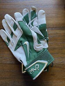 Nike Hyperfuse Mvp Green Batting Gloves Xxl Michigan State