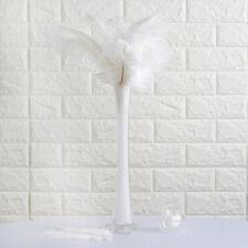 "12 pcs 13-15"" long White Genuine Ostrich Feathers Wedding Party Centerpieces"
