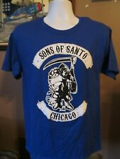 Chicago Cubs SONS OF SANTO Blue Short Sleeve T-Shirt Sz. Med~Sons of Anarchy