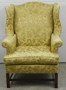 Kittinger Mahogany Chippendale Style Wing Chair