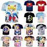 Japan Anime Sailor Moon Print 3D T-Shirt Women Men Casual Short Sleeve Tops Tee