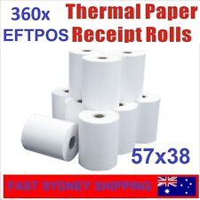 360 Bulk Rolls 57x38mm Premium EFTPOS Thermal Paper Cash Register Receipt Rolls