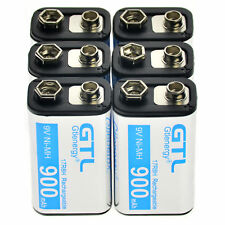 6 pcs Durable 9V 9 Volt 900mAh Power Ni-Mh Rechargeable Battery Cell FAST SHIP