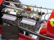 SMC Cloth Spark Plug Wire Pocher Rolls Royce Alfa Bugatti Fiat Mercedes Black