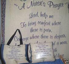 A Nurses Prayer Throw,Pillow & Tote Set