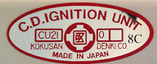 SUZUKI X7 250 GT250E GT250EN CDI IGNITION CAUTION WARNING DECAL