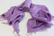 "P38  26"" x 72"" Gorgeous Lavender Pashmina/Silk  Shawl/Wrap Handmade In Nepal"