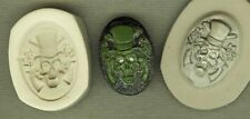 Gothic Skull Cameo GUNS/ROSES Polymer Clay Mold 25x18mm