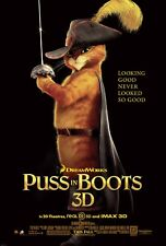 BANDERAS PUSS IN BOOTS #1 27X41 AUTHENTIC DOUBLE SIDED OFFICIAL THEATRE POSTER