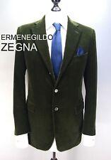 Ermenegildo ZEGNA corduroy blazer dark green forest hunter olive suit jacket 40S