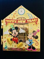 Disney 2007 Happy New Year Mickey & Minnie Jumbo Limited Edition Of 1000 3D Pin