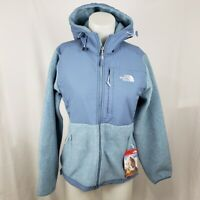 The North Face Denali Womens Full Zip Jacket Hooded Size S Small Blue NWT $199