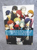 PERSONA 3 PORTABLE Official Fan Book w/Poster Guide PS EB98*