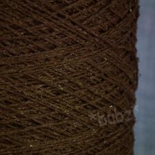 Hilo de Seda Lana puncha-Chocolate Brown - 500g cono - 3 capas de punto Tejido Crochet Rústico