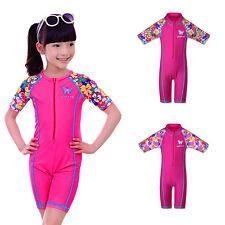 New Girls UV 50+ Sun Safe Swimsuit Beachwear Surf Bathing Swimming Costume 3-12Y