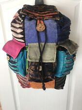 Boho Hippie Ethnic Festival Backpack/Rucksack/Bag Patchwork Cotton Multicolour