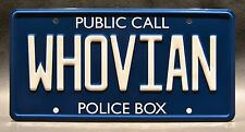 Doctor Who / WHOVIAN *METAL STAMPED* Standard USA Size License Plate