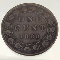 1888 Canada One 1 Cent Penny Copper Circulated Canadian Coin B442